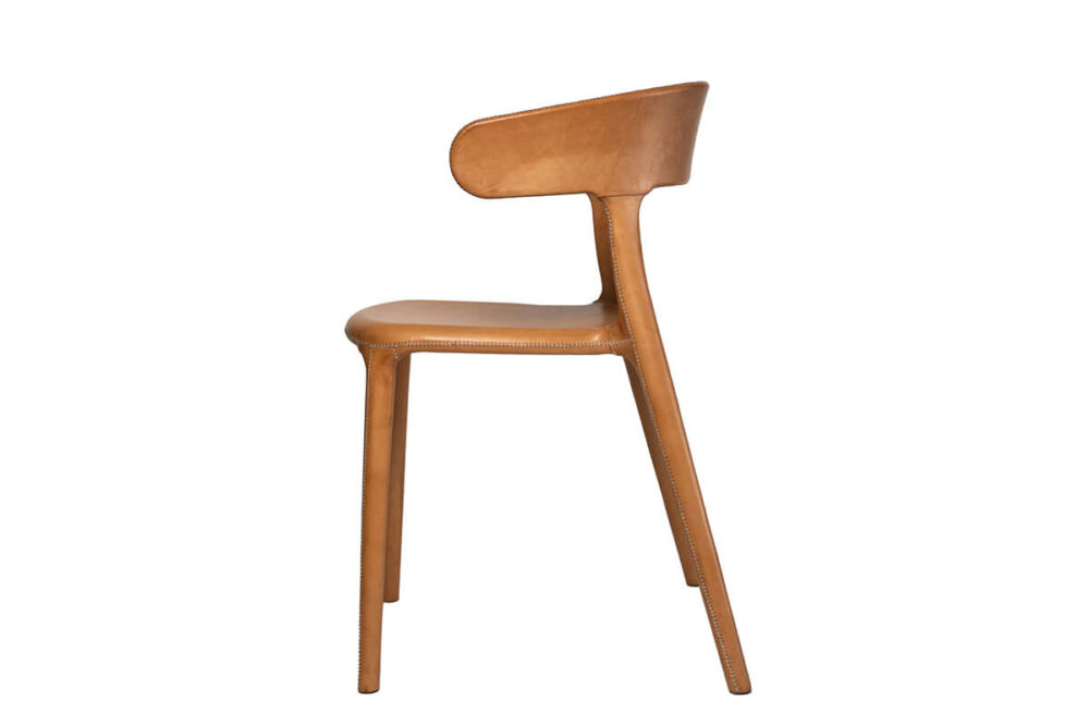 Carol chair in natural leather by Sol & Luna