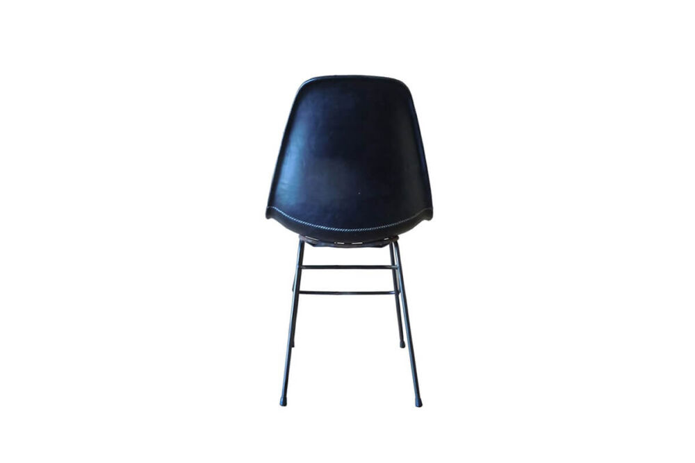 Beto chair in black leather by Sol & Luna