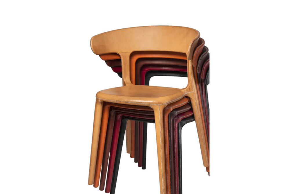 Carol chair in a choice of leather colours by Sol & Luna