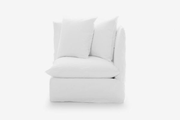 Ghost 07 corner chair by Gervasoni: the end part of a modular sofa